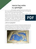 2a. Qué Diferencia Hay Entre Geografía y Geología
