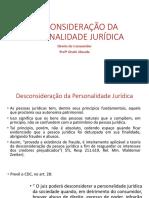 Desconsideração Da Personalidade Jurídica no Direito do Consumidor