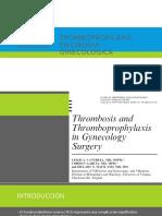 Tromboprofilaxis en Cirugia Ginecologica