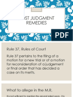 Post Judgment Remedies