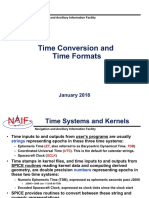 Time conversions and time format