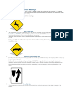10 Traffic Signs and Their Meanings