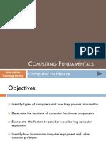 1 Computing Fundamentals - Hardware