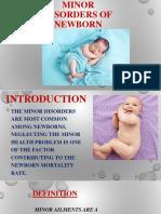 Minor disorders of N.B Final PPT