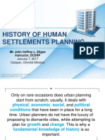 History of Planning_Human settlements