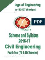 78th civil engineering final year syllabus