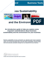 Business Sustainability and the Environment BT BSE C9 0913 4