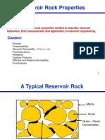 Reservoir Rock Properties