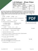 Phase Test 6 Math 1st Year