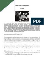 Albert Camus Et Les Libertaires de Lou Marin