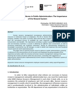 [20679785 - HOLISTICA – Journal of Business and Public Administration] Human Resource Reforms in Public Administration_ the Importance of the Reward System