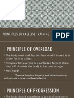 Principles of Exercise Training