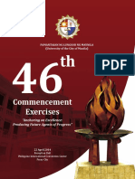 46th Commencement Exercises Souvenir Program