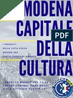 Brochure Cultura Modena Ora