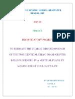 Investigatory Project Physics