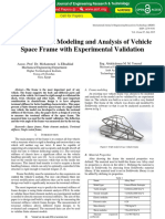 Finite Element Modeling and Analysis of Vehicle Space Frame With Experimental Validation IJERTV4IS070827