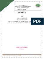 Module in Education 802 (Advanced Educational Psychology) copy.docx