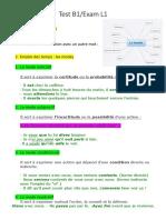 Test B2 français