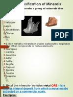Classification of Minerals