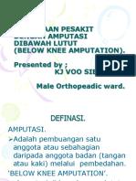 Penjagaan Pesakit Dengan Amputasi Dibawah Lutut