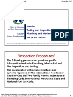 FA 17 Testing and Inspection Procedures for Plumbing and Mechanical 2 Slide Handouts