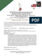 MACN-W999999999 Affidavit of Land Title America Amexem