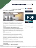 Las 7 Tendencias Que Marcarán La Arquitectura en 2019TecnoHotel