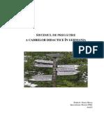 Sistemul de Pregătire a Cadrelor Didatice În Germania
