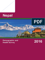 Nepal Demographic Health Survey NDHS 2016 Final Report