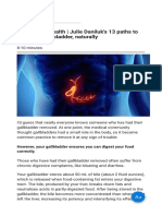 Gallbladder Health Julie Daniluk's 13 Paths to Save Your Gallbladder Naturally