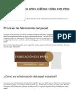 3 Proceso de Fabricación Del Papel _ La Prestampa, Las Artes Gráficas Vistas Con Otros Ojos