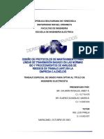 Diseño de Protocolos de Mantenimiento Para Líneas de Transmisión Basado en Las Normas ISO