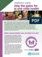 Preconception Care Policy Brief
