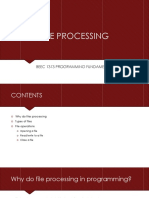 Lecture 13 - File Processing