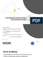 The Meaning and Relevance of Philippine History