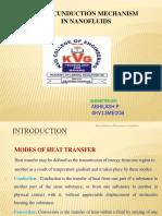 Heat Cunduction Mechanism Innanofluids