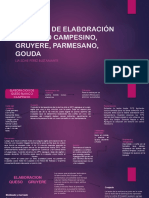 Proceso de Elaboración de Queso Campesino, Gruyere, Gouda