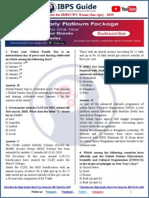 Score Booster for IDBI CWC (Jan - April) 2019-Unlocked