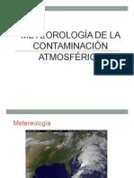 Meteorologia de La Contaminacion Atmosferica