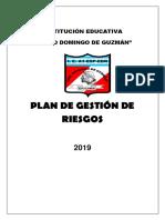 Plan de Gestión de Riesgo 2019 1