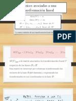 Matrices Asociadas a Una Transformación Lineal