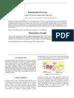Polarizacion de La Luz Informe
