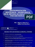 Instrumentación Geotecnica y Geomecánica_sub Niveles_2009