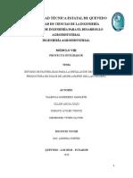 Proyecto Integrador Octavo Agroindustria Lactosuero