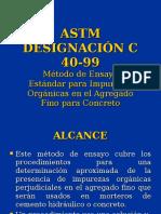 Norma 12, Astm c 40-99