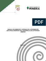 Manual Suministro y Entrega Informacion Geologica Generada en Desarrollo Actividades Mineras