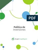 POLÍTICAS DE INVERSIONES