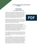Ejercicios_prelectura Lectura y Poslectura