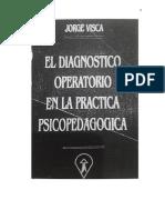 El dx operatorio en la practica psicopedagogica - Jorge visca.pdf