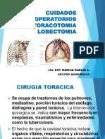 Cuidados Perioperatorio en Lobectomia